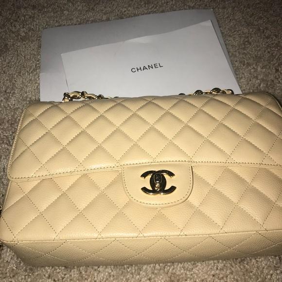 69527bd0a2c5 CHANEL Handbags - CHANEL Authentic Creme Shoulder Bag